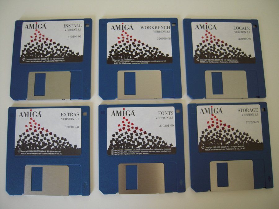 Amiga Workbench Disketten 3.1 Escom